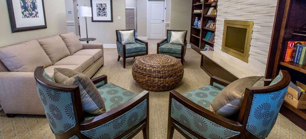 living room at the crossings at riverview