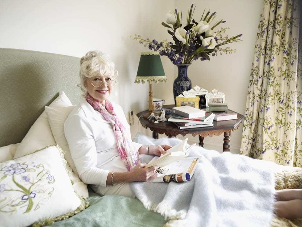 Senior Woman Relaxing with a Book
