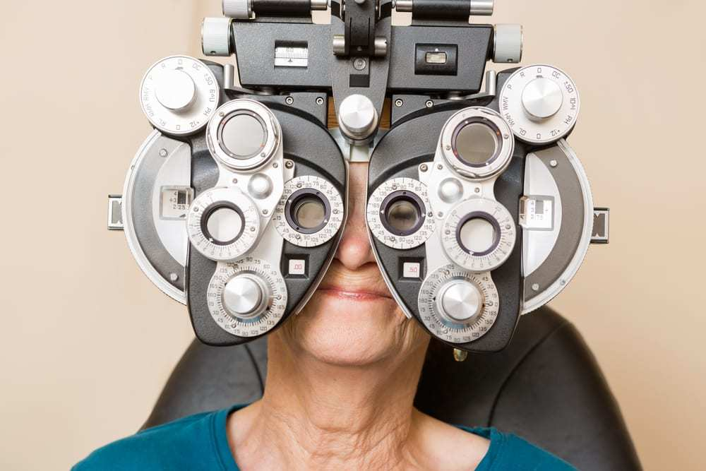 Senior Woman at an Eye Exam